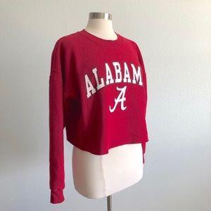 Vintage Alabama Cropped Sweatshirt